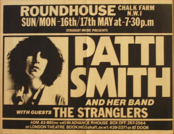Patti Smith Roundhouse 1976